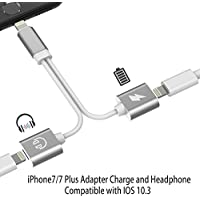 Lightning Adapter for iPhone 7 / 7 Plus,  Charge and Headphone Splitter Adapter for Lightning