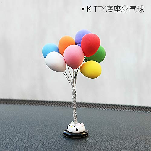 XuBa Small Balloon Design Clay Car Decoration Colorful Cartoon 3D Decoration Gift,14#]()