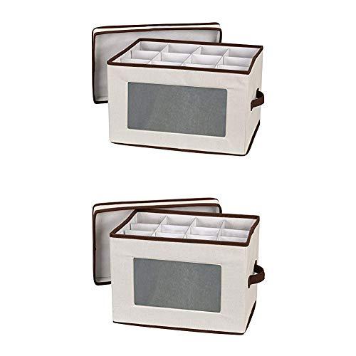 (Household Essentials 542 Vision Storage Box with Lid and Handles 544 Stemware Storage Box)