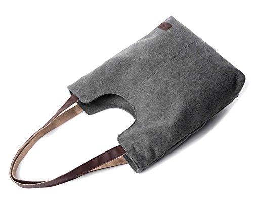 Longzibog Dual verstellbare Schultergurte und Hängeschlaufenband Mode Simple Style Fashion Tote Top Handle Schulter Umhängetasche Satchel Braun