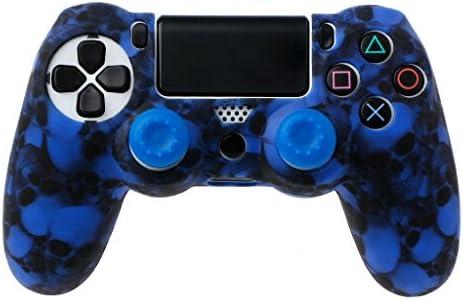 siwetg Skull Siliconen Gamepad Beschermhoes2 Joystick voor PS4 Pro Slim Controller