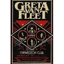 Greta Van Fleet reprint signed 12x18 Concert Show Tour poster RP