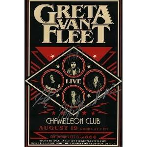 Greta Van Fleet reprint signed 12×18 Concert Show Tour poster RP