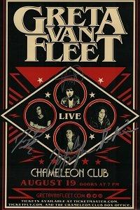 Greta Van Fleet reprint signed 12x18 Concert Show Tour poster RP (Poster Show Concert)