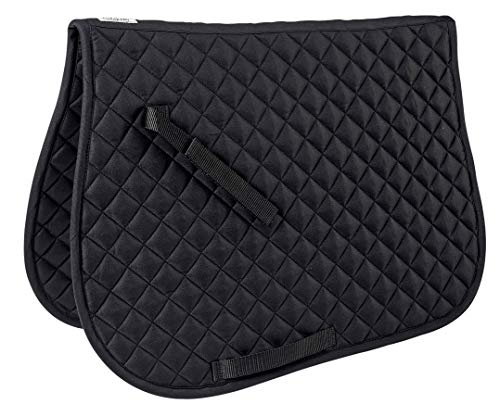 Dover Saddlery Quilted All-Purpose Saddle Pad, Black