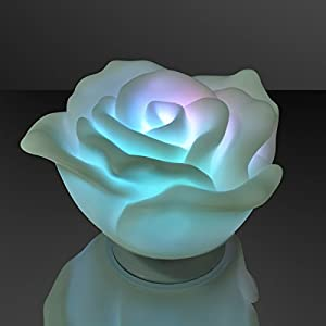 Floating Deco Roses with Color Change LEDs (Set of 12) 21