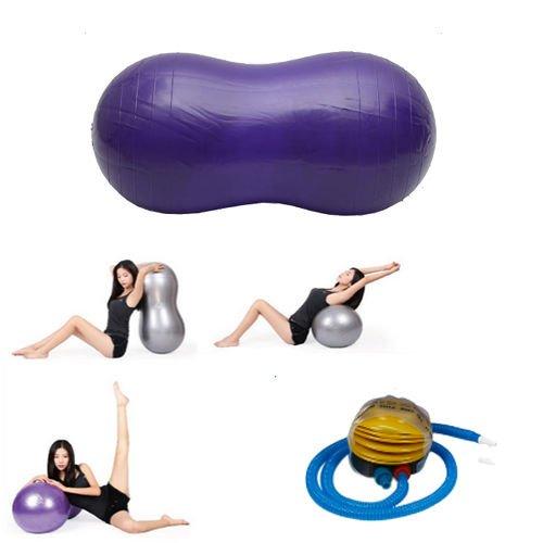 Peanut Yoga Ball 45cm90cm Health Fitness for Yoga Exercise Pilates Therapy