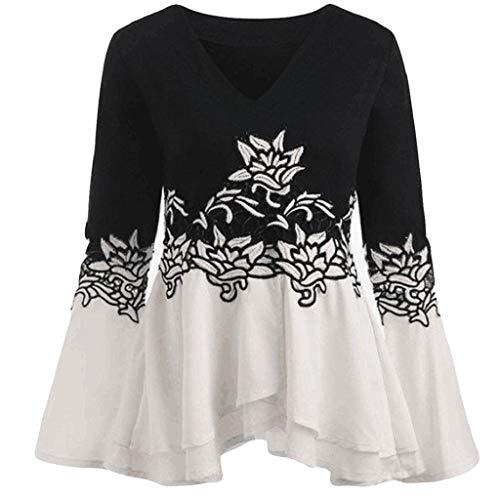 Impresa Camisa Finas Mangas La Camiseta Negro De Largas Luckycat collar V Camisas 2 Las Manera Mujeres Ypqvww8T
