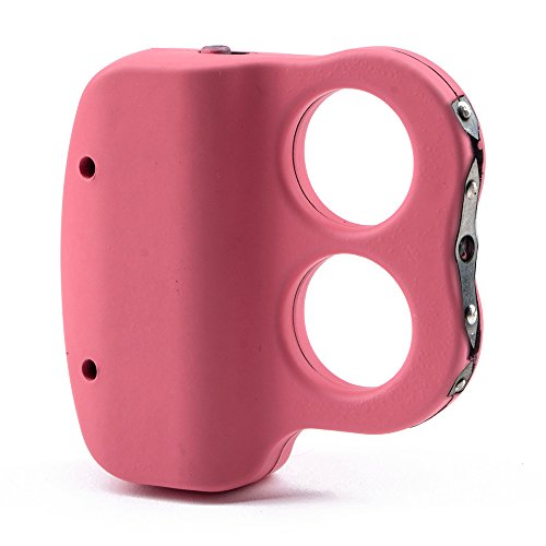 Guard Dog Security I Do Two Dual Ring Stun Gun Flashlight, High Voltage, Rechargeable, Pink