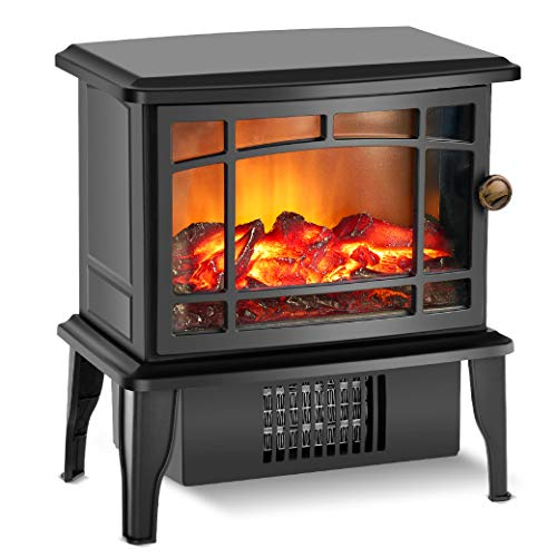 Fireplace Heater - Electric Fireplace Heater with 3s Fast Heating System, 500W Portable Fireplace Heaters for Indoor Use, Quartz Fireplace Heaters with Overheat Tip-Over Protection for bedroom (Quartz Fireplace)
