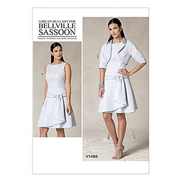 Vogue Damen Schnittmuster 1485 Bolero Jacke & Drop Taille Kleid + ...