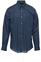 Van Heusen Men's Blue Window Pane Button Down Shirt