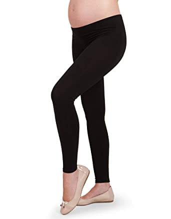 35acf6033c403 Seraphine Black Bamboo Active Under-Bump Maternity Leggings,Black,Small