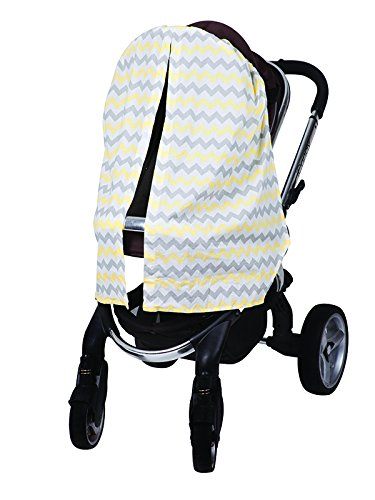Bambella Designs Stroller Privacy Curtain - Yellow Chevron by BayB Brand