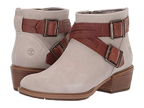- Timberland Womens Sutherlin Bay Cross Strap Ankle Boot, Light Taupe Suede, Size 10