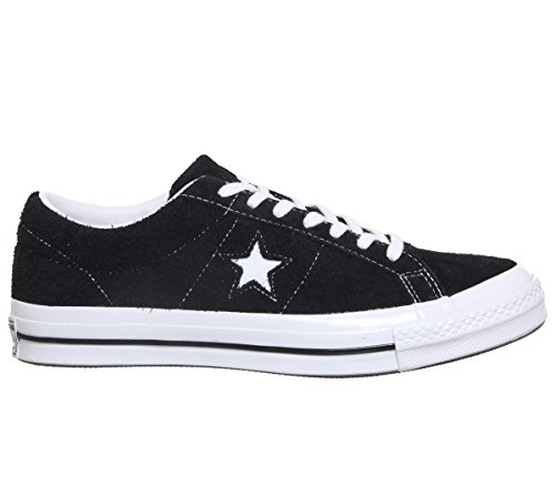 Converse Lifestyle One Star Ox Leather, Scarpe da Fitness Unisex – Adulto Black Black White