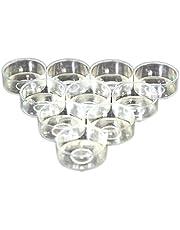 SUPVOX 100pcs Plastic Candle Holder Tea Light Container Cups
