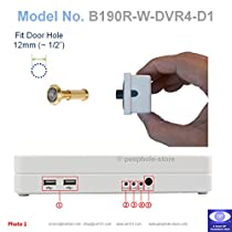 Easy DIY 190 degree Brass Color Door PeepHole Viewer Detachable Camera and DVR for Remote Motion-Detect Internet & Smartphone Video Viewing