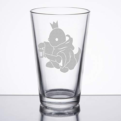 Final Fantasy - Tonberry King - Etched Pint - Red Glass Fantasy