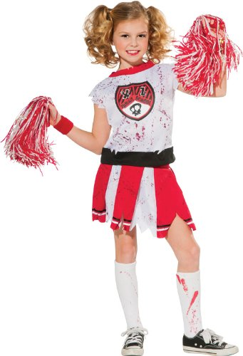 Cheerleader Zombie Costume, (Cheerleader Zombie)