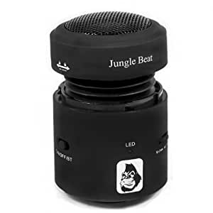 Jungle Beat Vibration Bluetooth Wireless Rechargeable Speakers with Built-in Lithium Battery and Microphone (TEST-1)