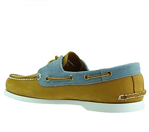 Timberland 6503A EK Earthkeepers Brig 2 Eye Boat Sneaker Bootsschuhe Mokassin hellbraun/blau