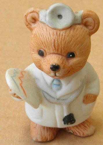Homco Ceramic Bear Doctor Figurine - 8820