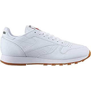 Reebok Men's Classic Leather Casual Sneakers, White/Gum, 4 M US