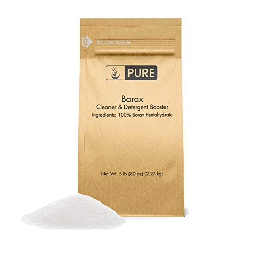 Borax Powder (5 lb.) by Pure Organic Ingredients, All-Natural Multipurpose Cleaner, Detergent Booster, Slime Ingredient