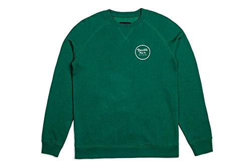 Brixton Mens Wheeler Standard Fit Crew Fleece Sweatshirt