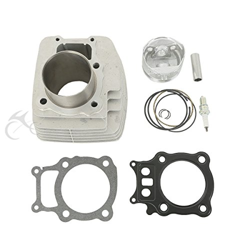 XFMT Cylinder Piston Gasket Top End Rebuild Kit For Honda Rancher TRX350 2000-2006 (Kit Rebuild Piston)