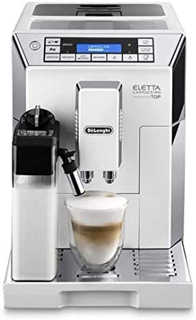 Delonghi super-automatic espresso coffee machine – with an adjustable silent ceramic grinder, double boiler, milk frother for brewing espresso, cappuccino, latte macchiato, Eletta ECAM 45760