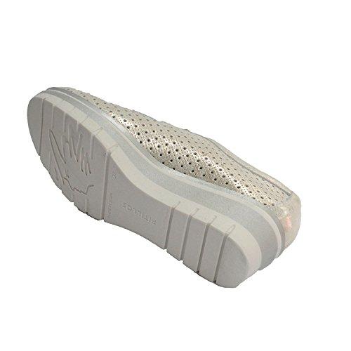 Metalizado En Cordones Calado Pitillos Con Deportivo Mujer Zapato Pqa0Yz