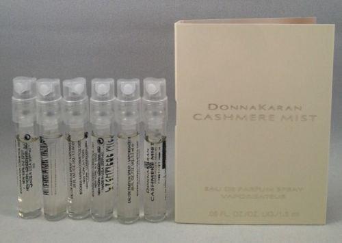 6 Donna Karan Cashmere Mist EDP Spray Sample Vial .05 Oz/1.5 Ml for Women ()
