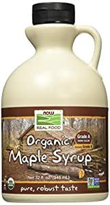 NOW Foods Organic Maple Syrup,Grade A Dark Color (formerly Grade B), 32-Ounce