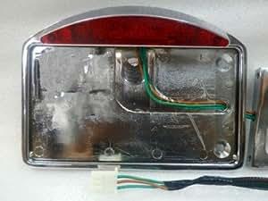 LED SIDE MOUNT License Plate Tail Light for Harley Sportster Dyna Softail Custom