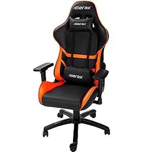 Merax High Back Computer Chair Ergonomic Design Racing Gaming Chair Reclining Chair Home Office Chair (Orange)