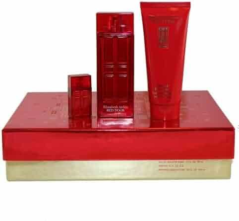 Elizabeth Arden Red Door 3 Piece Gift Set for Women with Eau De Toilette Spray, Body Lotion and Mini Parfum