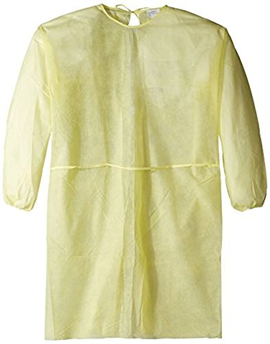 Alpha Pro Tech GN-13124-4 Critical Cover GenPro Full Coverage Gown with Banded Ties at Neck and Waist, Elastic Wrist, X-Large, Yellow (Case of 50)