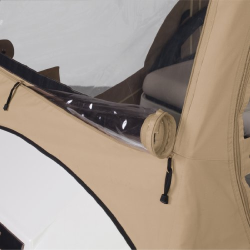 Classic Accessories Fairway Deluxe 4-Sided 2-Person Golf Cart Enclosure For Club Car, Tan by Fairway (Image #5)