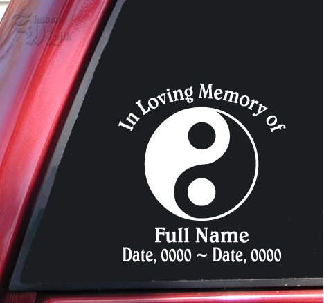in memory of loved one decal - 7