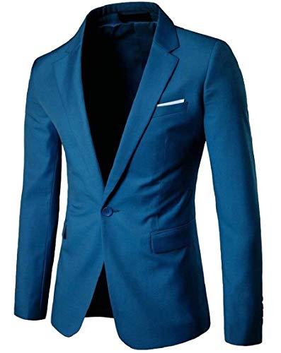 Manches Pour Cintrée Longues Blazer De Vintage Costume Homme Bouton 1 Classique 1 Élégant Coupe Garçon Smoking À Veste Couleur 6xBFqBR