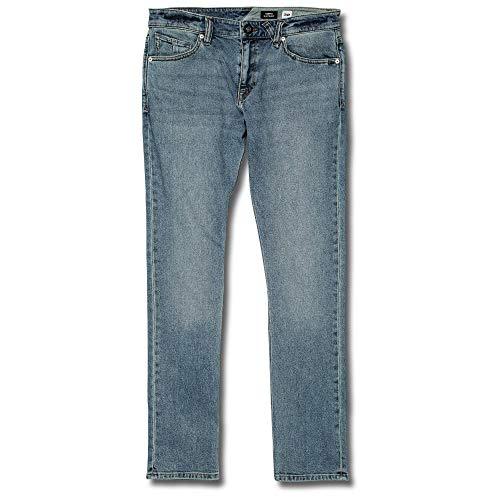 Volcom Men's Vorta Slim Fit Stretch Denim Jean, Slate Blue 33X30