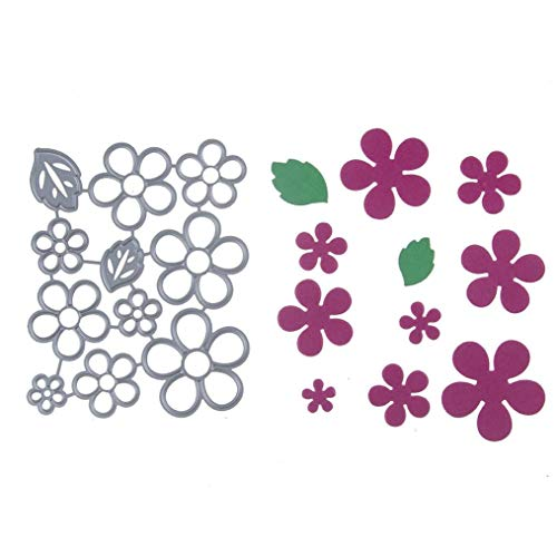 Plumeria Die Cut - Cutting Dies,YOYORI New Flower Heart Metal Cutting Dies Stencils DIY Scrapbooking Album Paper Card (C)