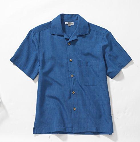 (Ed Garments 1030 Batiste Camp Shirt - Sapphire - XXX-Large)