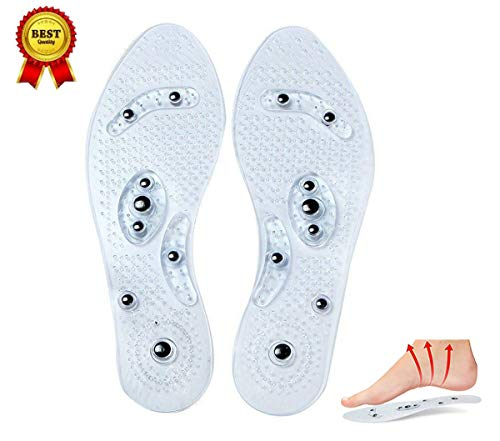 SHENLJ Magnetic Therapy Insoles, Plantar Fasciitis Relief Pain Breathable Shoes Insoles,Acupressure Magnetic Massage Foot Therapy Reflexology Pain Relief, Foot Care Cushion Acupressure Slimming Magnet - Massage Magnetic Cushion