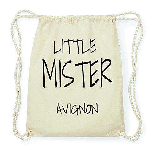 JOllify AVIGNON Hipster Turnbeutel Tasche Rucksack aus Baumwolle - Farbe: natur Design: Little Mister SOskd05