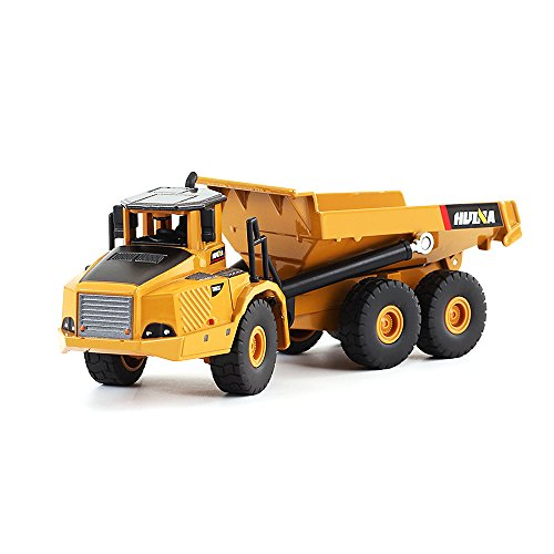 1/50 Scale Diecast Articulated Dump Truck Engineering Vehicle Construction Models Toys for Kids by HuiNa