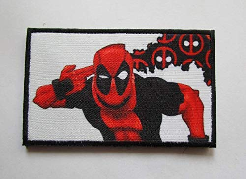 Movie Deadpool Borderlands Military Patch Fabric Embroidered Badges Patch Tactical Stickers for Clothes with Hook & -