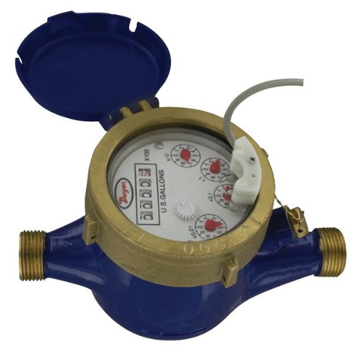 Dwyer Multi-Jet Water Meter w/ Pulsed Output, WMT2-A-C-04-1, 1'' NPT, 50 GPM, Brass Body